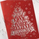 Carlson Craft Holiday Card - Lasercut Christmas Tree