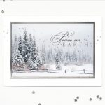 Carlson Craft Holiday Card - Peace Winter Scene