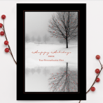 Carlson Craft Holiday Card - Winter Scene