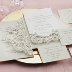 William Arthur Laser Cut Floral Lace Wedding Invitation