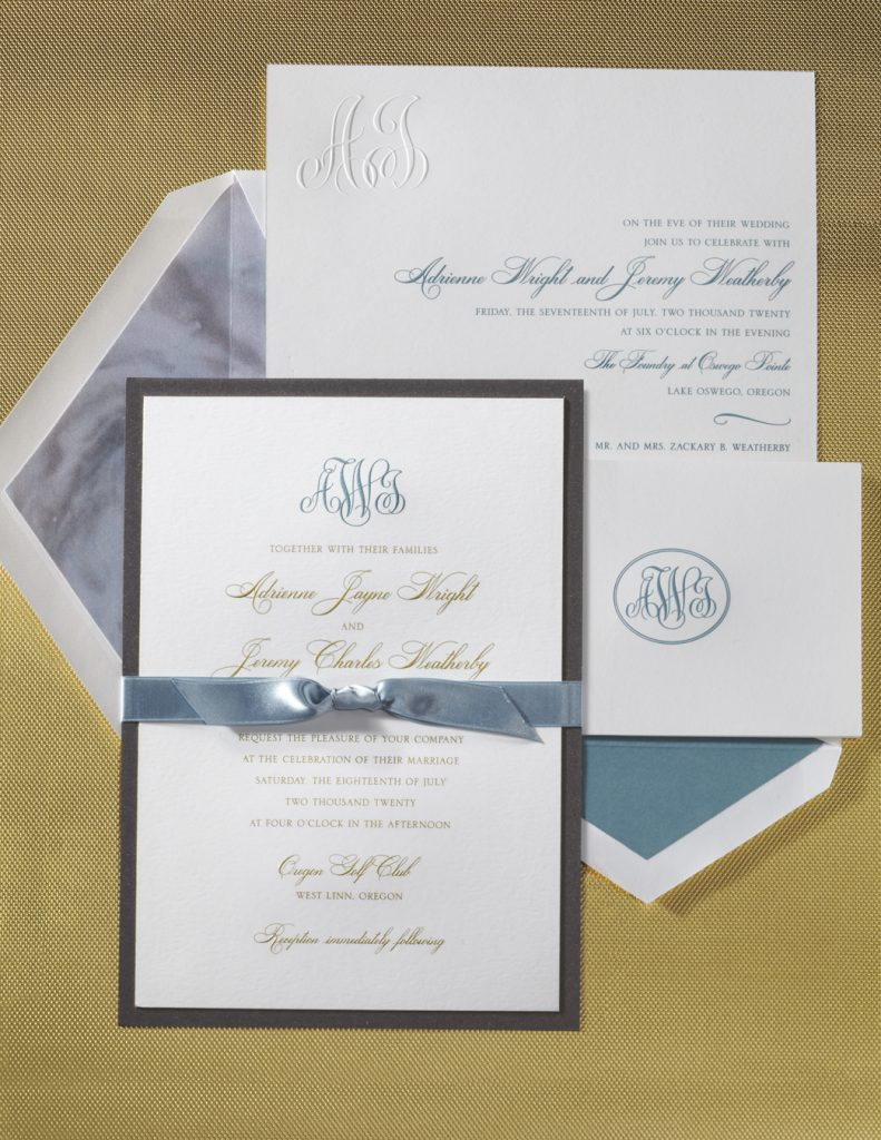 William Arthur Wedding Invitations Stationery Hyegraph