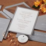 William Arthur Rose Gold & Grey Wedding Invitation