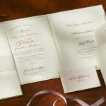 William Arthur Blush Scalloped Wedding Invitation
