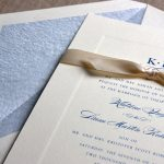 William Arthur Debossed Border Wedding Invitation