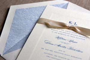 William Arthur Debossed Border Wedding Invitation