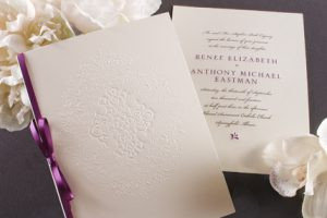 William Arthur Ribbon Folder Wedding Invitation