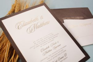 William Arthur Chocolate Layered Wedding Invitation