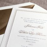 William Arthur Gold Ornate Border Wedding Invitation
