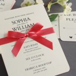 William Arthur Heavyweight Painted Edge Wedding Invitation