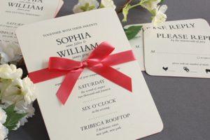 William Arthur Heavyweight Painted Edge Wedding Invitation