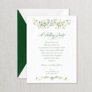 William Arthur Foliage Holiday Party Invitation