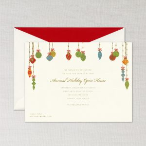 William Arthur Hanging Ornaments Holiday Card