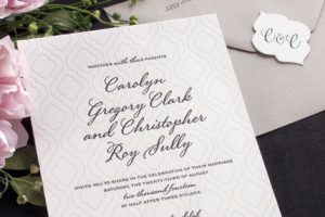 William Arthur Pattern Wedding Invitation