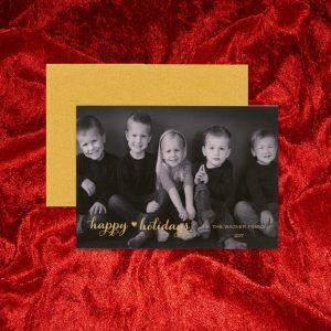 William Arthur Gold Duplexed Photo Holiday Card