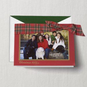 William Arthur Gingham Ribbon Photo Holiday Card