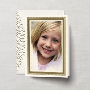 William Arthur Gold Confetti Dots Photo Holiday Cards