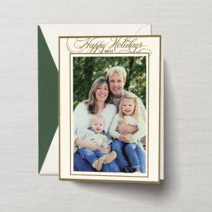 William Arthur Happy Holidays Gold Foil Photo Holiday Cards