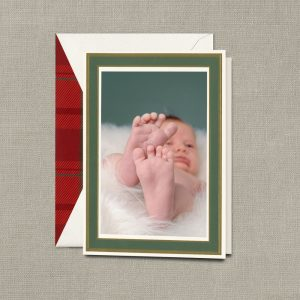 William Arthur Green Border Photo Holiday Cards