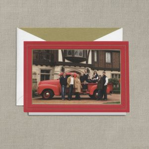 William Arthur Red Bordered Photo Holiday Cards