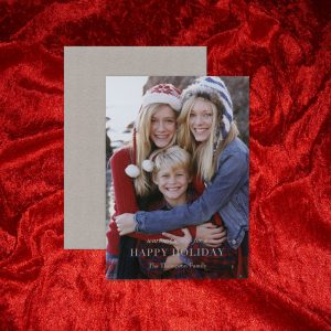 William Arthur Silver Duplexed Photo Holiday Card