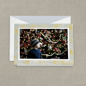 William Arthur Silver and Gold Vintage Photo Holiday Card