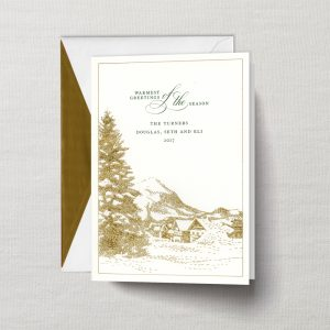 William Arthur Warmest Greetings Gold Engraved Holiday Card
