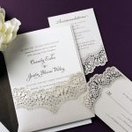 William Arthur Lace Laser Cut Wedding Invitation