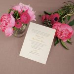 William Arthur Beaded Border Wedding Invitation