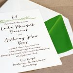 William Arthur Letterpress Wedding Invitation