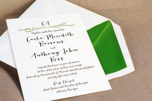 William Arthur Letterpress Wedding Invitation