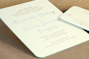 William Arthur Painted Edge Wedding Invitation
