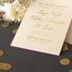 William Arthur Gold Foil Painted Edge Wedding Invitation