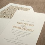 William Arthur Deco Wedding Invitation
