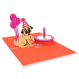 Lovepop 3D Pop Up Card Birthday Pug Smash