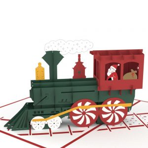 Lovepop 3D Pop Up Card Christmas Santa Train