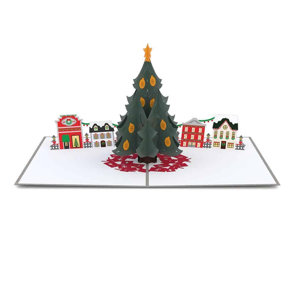 Lovepop 3D Pop Up Card Christmas Tree Village