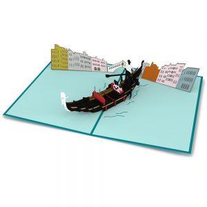 Lovepop 3D Pop Up Card Gondola Ride Love Scene