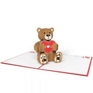 Lovepop 3D Pop Up Card Love Bear