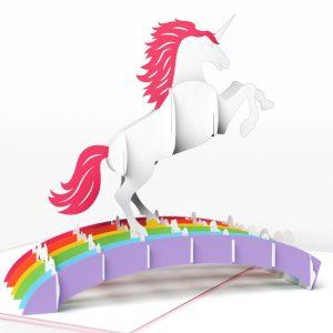 Lovepop 3D Pop Up Card Magical Rainbow Unicorn