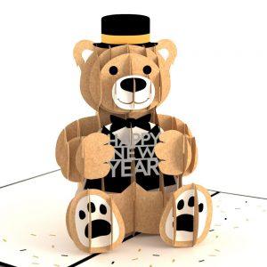 Lovepop 3D Pop Up Card Happy New Year Bear