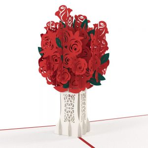 Lovepop 3D Pop Up Card Rose Bouquet