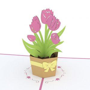 Lovepop 3D Pop Up Card Tulip Bouquet