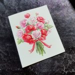 Paula Skene Rose Bouquet Anniversary Card