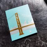 Paula Skene San Francisco Skyline on Teal
