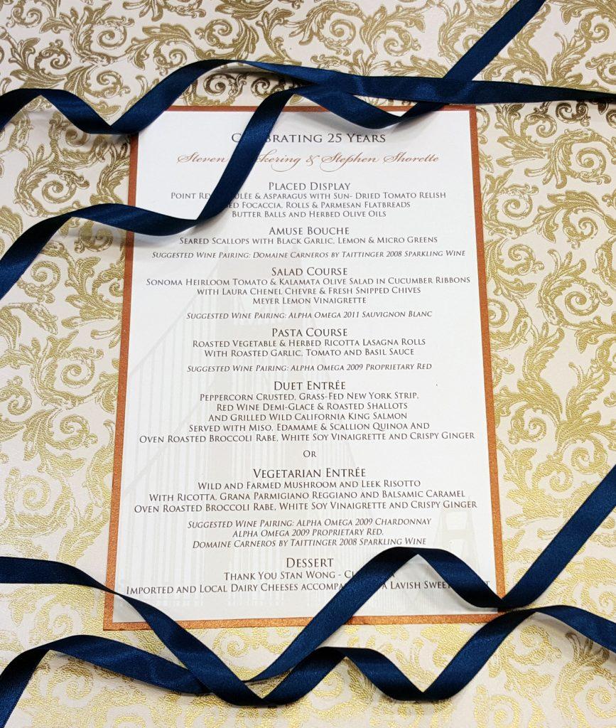 Chinese Wedding Food Menu: Hyegraph Invitations & Calligraphy