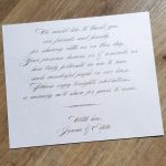 Gold Glitter Wedding Thank You Note