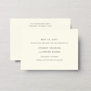 Crane & Co. Stationery Save The Date