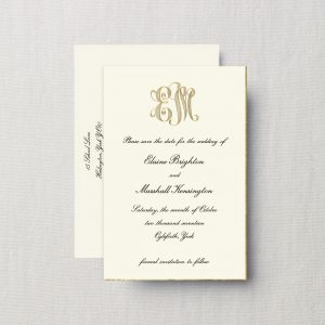 Crane & Co. Gold Monogram Save The Date