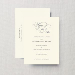 Crane & Co. Script Save The Date