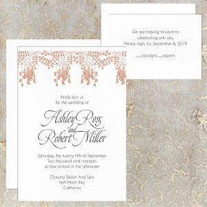 Regina Craft Acacia Blooms Wedding Invitation